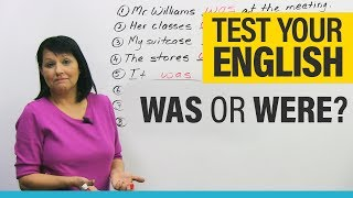 Download Basic English Grammar: How to Use WAS and WERE Video