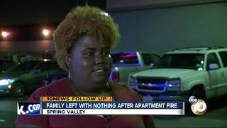 Download Spring Valley family left with nothing after apartment fire Video