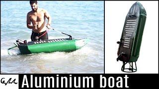Download Gasoline engine aluminium boat Video