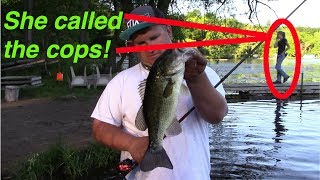 Download SHE CALLED THE COPS | BASS FISHING IN A SEWER Video