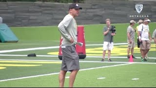 Download Mic'd up: Oregon's Mark Helfrich shares some laughs with Ducks Video