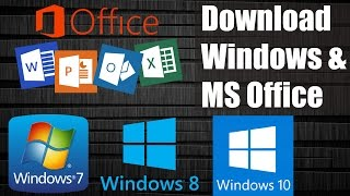 Download Download Windows 7 / 8.1 / 10 & MS Office Free from Microsoft without Product key Video