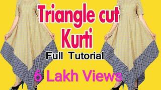 Download Triangle cut kurti (cutting and stitching) in hindi Video