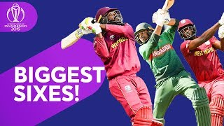 Download Biggest Sixes! | 2019 Cricket World Cup Biggest Sixes So Far | ICC Cricket World Cup 2019 Video