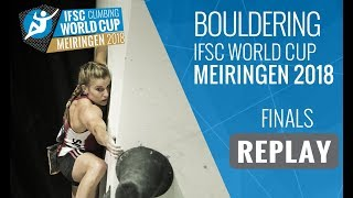Download IFSC Climbing World Cup Meiringen 2018 - Bouldering - Finals - Men/Women Video