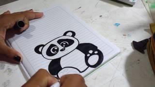 Download Oso panda dibujado para marcar cuadernos. Para niña. Estadística. Video