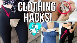 Download 17 CLOTHING LIFE HACKS EVERY GIRL MUST KNOW! Video