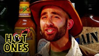 Download Coyote Peterson Gets STUNG by Spicy Wings | Hot Ones Video