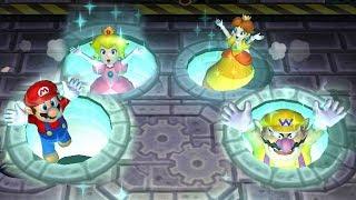 Download Mario Party 9 Garden Battle - Peach vs Daisy vs Wario vs Mario| Cartoons Mee Video