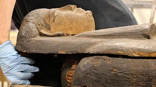 Download Scientists Open Egyptian Mummy Coffin in Chicago Video