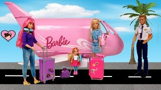 Download Barbie & Chelsea Airplane Travel Trouble! Barbie Dreamhouse Adventures Toys Video
