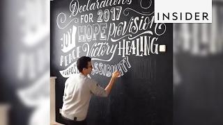 Download A Zurich artist's hand lettering transforms chalkboards Video