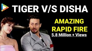 Download BLOCKBUSTER Rapid Fire of Tiger Shroff and Disha Patani Video