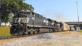 Download NS 276 rolls north as it passes 27A in Stockbridge, Ga. Video