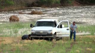 Download Truck Gets Stuck In River Bed As Water Rises Video