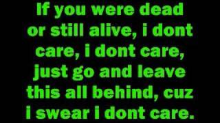 Download I don't care by Apocalyptica with lyrics Video