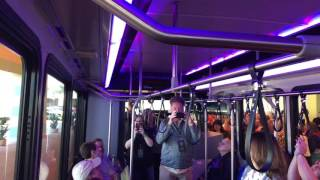Download Prototype Sorcerer Class Disney World Bus on Display at Destination D Video