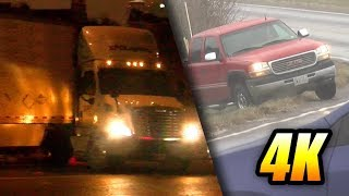 Download Icy Road MADNESS! Compilation in 4K: Car & Truck Jackknifes, Spins, Slides Video