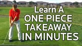 Download Golf Backswing - Learning The One Piece Takeaway Video