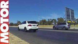 Download BMW X5 M vs Mercedes-AMG GLE 63 S drag race Video