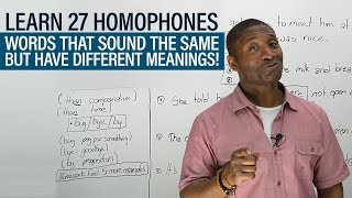 Download Vocabulary: The 27 most common HOMOPHONES in English Video