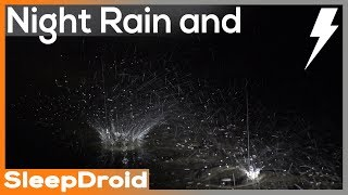 Download ► Heavy Night Rainfall and Thunderstorm Sounds for Sleeping~Close Raindrops, 10 hours. Hard (lluvia) Video