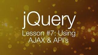 Download jQuery Ajax Tutorial #1 - Using AJAX & API's (jQuery Tutorial #7) Video