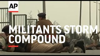 Download Militants storm compound leaving 5 soldiers and 2 militants dead in Indian Kashmir Video