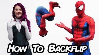 Download Spiderman Teaches How to Backflip (Spider verse Parkour tutorial) Video