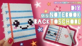 Download DIY mini notebook | back to school | easy kawaii | perler hama beads | cute pixels | draw pixel art Video