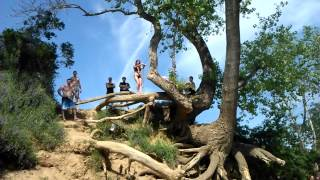 Download American River Rope Swing Fail Video