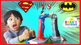 Download Batman Vs Superman Toys Dawn of Justice Batmobile Car Family Fun Game for Kids Ryan ToysReview Video