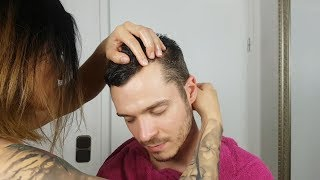 Male oil massage video