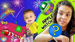 Download BEST APPLE WATCH EVER!  Shawn's 1st 4th of July Fireworks  Mom's Birthday Vlog Video