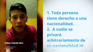 Download Rubio Chavez Francisco Erbey, Mexico, reading article 15 of the Universal Declaration of Human Righ Video