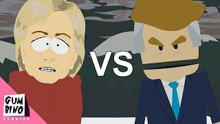 Download Donald Trump vs Hillary Clinton - ERB animated (Epic rap battles of history south park) Video