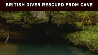 Download Diver who helped rescue Thai soccer team rescued from cave Video