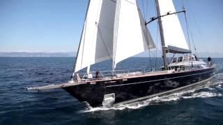 Download 60m Perini Navi sailing yacht PERSEUS^3 under sea trials Video