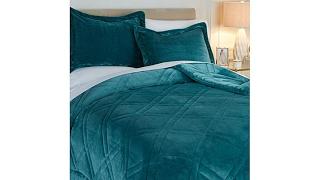Download Soft Cozy Double Diamond Plush Comforter Set Video
