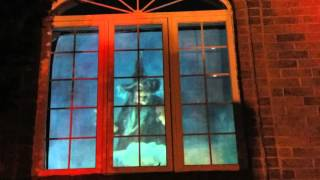 Download Halloween Yard Haunt Graveyard 2015 Atmosfear FX The witching Hour Window Display Video