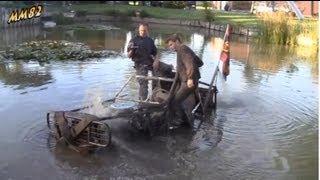 Download Nissan Patrol & OK Loader stuck in pond Video