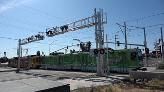 Download SACRT 112 & SACRT 109 Light Rail Trains, Franklin Blvd. Railroad Crossing, Sacramento CA Video