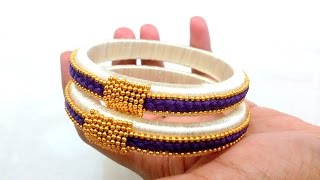 Download How to make Silk Thread Bangles ! Design 2 Video