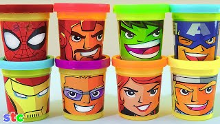 Download Play Doh Marvel Avengers Assemble Can Heads Plastilina de Los Vengadores Video