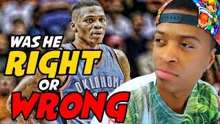 Download Russell Westbrook PISSES OFF Reporter!! | Was he Wrong for Doing This? Video