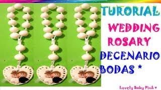 Download Decenario pasta flexible paso a paso / Wedding Rosary cold porcelain / polymer clay Video