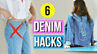 Download 6 DIY Denim Hacks EVERY Girl Must Know for Fall! Video