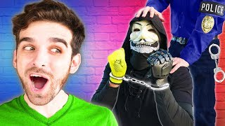 Download POLICE ARREST PZ9! Spending 24 Hours Spying on Hacker and Giving Him a Surprise Trip to Prison Video