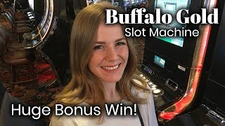 Download Buffalo Gold Slot Machine HUGE WIN! More than 50 spins!!! Video
