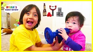 Download Ryan Trying out Voice Changer and Birthday Party at Indoor Playground for kids Video